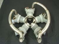 5 cyl Round engine exhaust