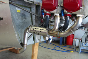 Finished 0-235 exhaust system